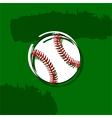 Stylized baseball vector image