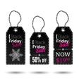 Black Friday tags vector image