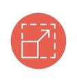 Responsive design thin line icon vector image