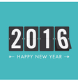 happy new year 2016 card mechanical timetable blue vector image