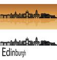 Edinburgh skyline in orange vector image