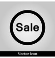Sale icon on grey background vector image