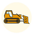 colorful outline earth mover icon vector image