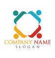 human character logo concept vector image