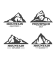 Isolated mountains logo or signs vector image