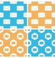 Letter pattern set colored vector image