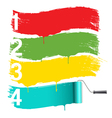 painted banners with roller brush vector image