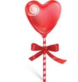 Sweet heart lollipop vector image