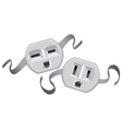 Plug jack faces vector image