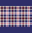 blue tartan plaid seamless fabric texture vector image