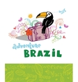 Welcome to Brazil vector image