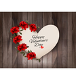Happy Valentines Day background Retro greeting vector image