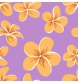 Beautiful Plumerias Seamless Pattern vector image