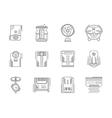 Climate appliances linear icons set vector image