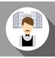 Hotel design service icon travel concept vector image