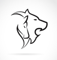 Lion and Horse vector image