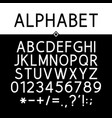 black strict alphabet vector image