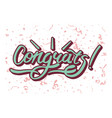 congrats inscription on background with festive vector image