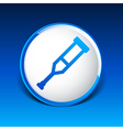 Crutch or crutches icon with flat design element vector image