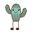 cute cactus flora decoration natural vector image