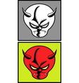 Devil halloween mask 5 vector image