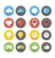 Different flat icons set vector image