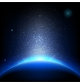 Earth - sunrise in deep blue space EPS 10 vector image