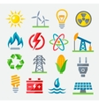 Energy colorful icons vector image
