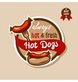 hot dogs emblem 2 vector image