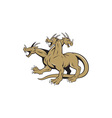 Hydra Crouching Attack Cartoon vector image