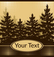 landscape fir trees silhouettes vector image