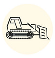 outline earth mover icon bulldozer icon vector image