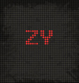 LED Display Scoreboard Dot Grunge Font from Z to Y vector image
