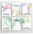Set of Flyer Brochure Design Templates Geometric vector image vector image