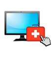 computer and health vector image vector image