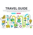 Travel infographic icons items design Vacation vector image