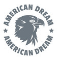 american dream eagle logo simple style vector image