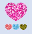 Heart love decor vector image