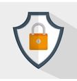 shield padlock secure data icon vector image