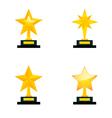 Star awards vector image