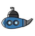 submarine sea ship vector image