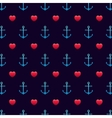 Anchor patternSeamless love wedding and valentine vector image