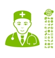 Physician Icon With Free Bonus vector image