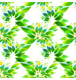 abstract seamless pattern with leaves vector image