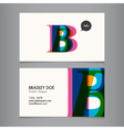 Business card template letter B vector image vector image