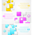 Abstract tech banners vector image