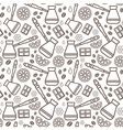 Endless coffee background vector image