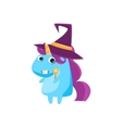 Unicorn In Witch Costume vector image