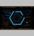 abstract hexagon technology design vector image