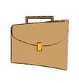 drawing portfolio suitcase business icon vector image